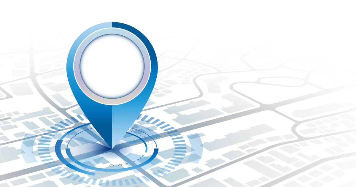 GPS oznaka lokacije na karti