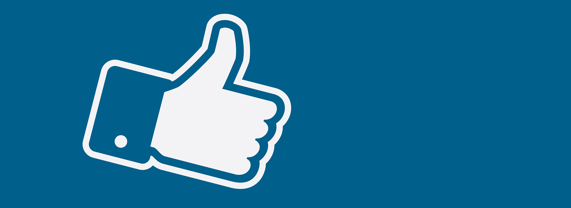 Facebook like – ilustracija